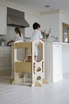 Amazon.com : Little Partners Learning Tower Kids Adjustable Height Kitchen Step Stool for Toddlers or Any Little Helper - Natural : Nursery Step Stools : Baby