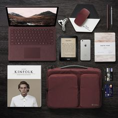 Best companion with Microsoft Surface Laptop. Add burgundy style to your daily office life.