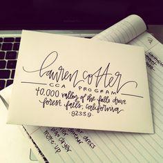 envelope addressing by laurenishdesign