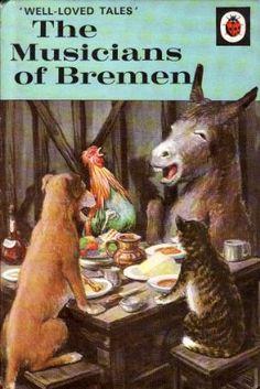 MUSICIANS OF BREMEN a Vintage Ladybird Book Well Loved Tales Series 606D First Edition Matt Hardback