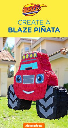 Craft your own Blaze piñata for the ultimate Blaze and the Monster Machines themed birthday party celebration. Click here to see how you can make other Nick Jr. friends from Shimmer and Shine, Rusty Rivets, and PAW Patrol!