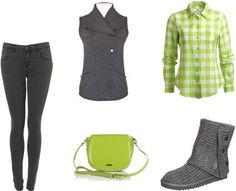 Ria Lindsay's stylebook at ShopStyle: ColorCombo#5 Grey And Lime on shopstyle.co.uk