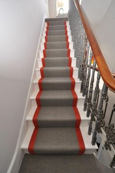 Cost Of Carpet Runners For Stairs Black Hallway, Hallway Designs, Hallway Ideas, Where To Buy Carpet, Cost Of Carpet, Bungalow Renovation, Wooden Stairs, Luxury House Plans, Carpet Stairs
