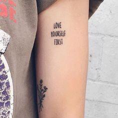 "3,313 curtidas, 14 comentários - LITTLE TATTOO LOVE ♡ (@littletattoolove) no Instagram: ""• love yourself first • on @tinasweetheart by @chunhack  #littletattoolove #littletattoo…"""