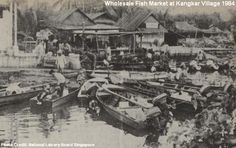 1984 - kangkar village wholesale fish market