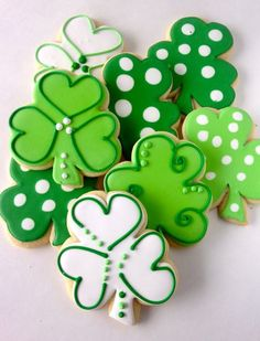 Shamrock Sugar Cookies St. Patrick's Day one by MixCupcakeCo