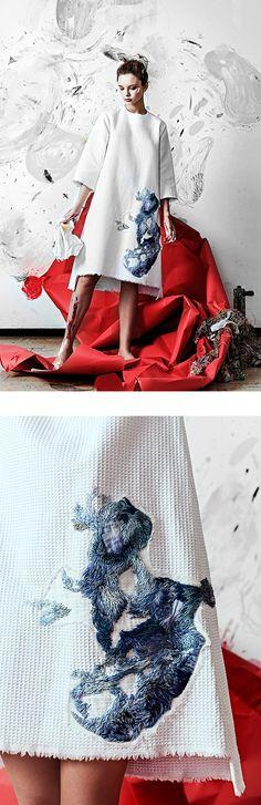 New fashion art work behance ideas Foto Fashion, Fashion Moda, Fashion Art, Fashion Design, Fashion Trends, Trendy Fashion, Robes Christian Dior, Textiles, Street Look