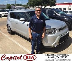 https://flic.kr/p/JKiKf9 | Happy Anniversary to Juan on your #Kia #Soul from Brian Dean at Capitol Kia! | deliverymaxx.com/DealerReviews.aspx?DealerCode=RXQC