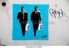 Hackney East London September 2008 Shoreditch graffitti - Stock Image