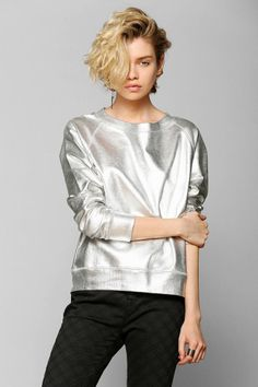 Пуловер металлик