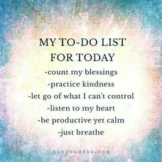 New daily to-do list.
