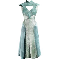 Daenerys' Qartheen Dress - edited by mlleemilee ❤ liked on Polyvore featuring dresses, gowns, short dresses, medieval, mini dress, short green dress, green color dress and green dress
