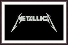 (10) Name: 'Embroidery : Metallica - Cross stitch pattern