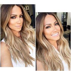 Beautiful hair color and style s soft golden blond honey blonde light brown roots coloring for . hair color ideas coloring roots for ombre . Beautiful Hair Color, Hair Color And Cut, Blonde Color, Color Blue, Ombre Colour, Neutral Blonde, Blue Ombre, Great Hair, Hair Looks