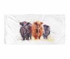 cow printed-towel-10 Beach Towel 30x60