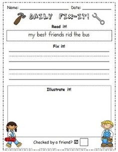 This zip file contains all of the Daily Fix-Its for Scott Foresman Reading Street Grade 1 Unit 1. There are two fix-its for each day of the week an...