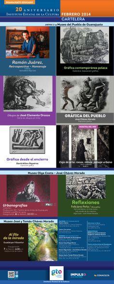 ¡Celebra con nosotros 20 años de historia! 20 años de cultura con rostro humano y sentido social. Festeja todo el mes de febrero con nuestras exposiciones, cursos, cine, cuentos, música, títeres y literatura que ofertamos en todo el estado de Guanajuato.
