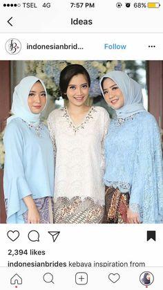 Kebaya Lace, Kebaya Brokat, Batik Kebaya, Kebaya Dress, Batik Dress, Kebaya Hijab, Batik Fashion, Hijab Fashion, Kebaya Wedding