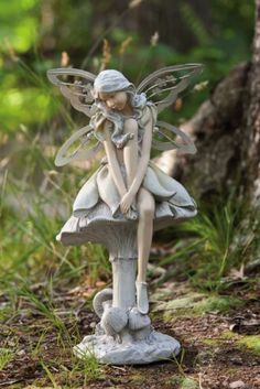 Don't be shy, the Ethereal Forest Fairy Bashful Fairy Garden Statue will make a great companion in your garden. This lovely fairy is painted. Fairy Statues, Fairy Figurines, Garden Statues, Garden Sculptures, Magic Garden, Garden Art, Elves And Fairies, Forest Fairy, Unique Gardens