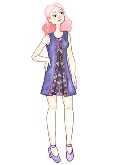 Please vote for my daughters design.  She is a finalist in ModCloths 'Make the cut go with the Boho' dress design contest.  Her design is finalist #1 and is the girl with pink hair.  If her design wins it will be produced with her name on the label, she will also win $500.00 and receive the dress in her size.  Vote every day for 6 days!  help make her day!  Thank You very much!  smile.