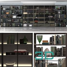 awesome 135.Bookcase model Download here: http://3dmili.com/decoration/decorative-set/135-bookcase-model.html