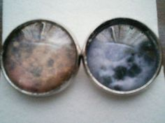 Neighbours cabochon stud earrings £3.50. Not Ramsey Street, silly...our nearest neighbours in space, the moon and Mars.
