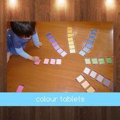 Montessori Graded Colour Tablets by jojoebi on Etsy
