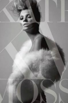 Kate Moss book cover, Makeup by Lisa Houghton