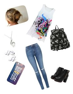 """""""high school musical"""" by evestaylor ❤ liked on Polyvore featuring Topshop and Casetify"""