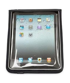 Water Resistant Jacket for iPad:  This water-resistant sleeve allows you to see and operate your device easily while keeping the moisture out.