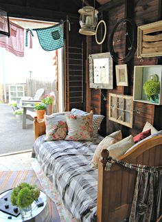 """Amazing !  Old Barn Shed Transformed into a Rustic """"She Cave Hideaway"""" ! by The Painted Home"""