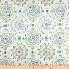 Tea Garden Sateen Home Décor Dream Right Blue - Discount Designer Fabric - Fabric.com