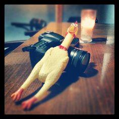17/365 - Hoy he sido actor en un corto protagonizado por un pollo de goma. Ya os contaré... #2013/365