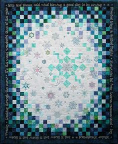 Winter Flurries quilt: embroidery designs by Carol Robinson at Bee Unique Embroidery Designs