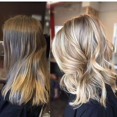 Makeover Monday: Getting Blonded! Color by @christinamakridishair #hair #hairenvy #hairstyles #haircolor #beforeandafter #blonde #makeover #balayage #highlights #newandnow #inspiration #maneinterest