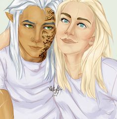 Rowan Whitethorn and Aelin Ashryver Galathynius