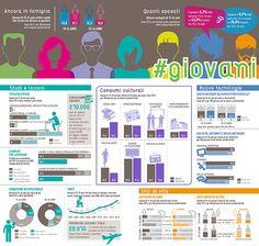 Numero, stili di vita, consumi culturali, titolo di studio e condizione occupazionale dei giovani in Italia #infografiche #giovani #istat #infographics