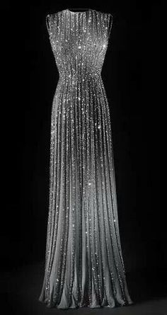 Pleated Chiffon Beaded Gown - gorgeous!