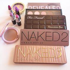 Las mejores sombras de ojos (eyeshadow) #naked3 #toofaced #mac #cosmetic #makeup  Fuente: we heart it