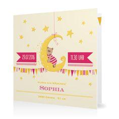 Geburtskarte Traumland in Vanille - Klappkarte quadratisch #Geburt #Geburtskarten #Mädchen #Foto #kreativ https://www.goldbek.de/geburt/geburtskarten/maedchen/geburtskarte-traumland?color=vanille&design=718af&utm_campaign=autoproducts
