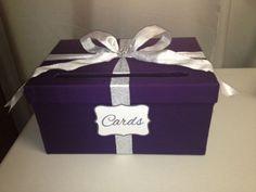 Purple and silver wedding card box | Wedding | Pinterest ...