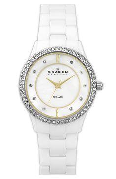 Skagen Round Ceramic Bracelet Watch (Online Exclusive) #NSale #Nordstrom