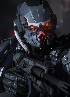 Killzone Shadow Fall Assault Trooper by Efgeni Bischoff