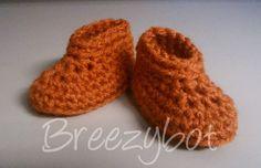 (Free) Newborn Baby Bootie pattern -- breezybot