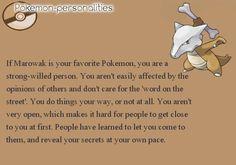 Pokemon Personalities: Marowak
