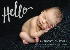 cutest foil-stamped birth announcement