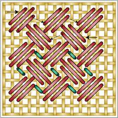 Criss Cross Hungarian Stitch Chart