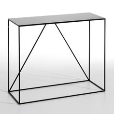 Romy Small Metal Console Table AM.PM. : price, reviews and rating, delivery. Romy Small Metal Console Table. This elegant, understated metal console table homes in on clean lines fitting seamlessly into any interior. Ideal in a hallway, lounge or even a bedroom to show off a lamp, vase or any stylish decorative object! Dimensions of the metal console table: Length 90 x Depth 35 x Height 75 cm. In black epoxy coated metal.