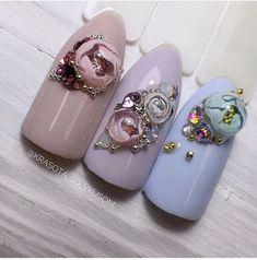 Ногтеманияк | Маникюр, ногти, идеи дизайна 3d Acrylic Nails, 3d Nail Art, 3d Nails, Nail Manicure, Nail Arts, Fabulous Nails, Gorgeous Nails, Nail Place, Simple Art