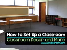 How do I set up a classroom? Includes photos, tips and ideas for setting up a classroom. It contains classroom decor as well interactive displays, bulletin boards, color schemes, and classroom organization strategies.